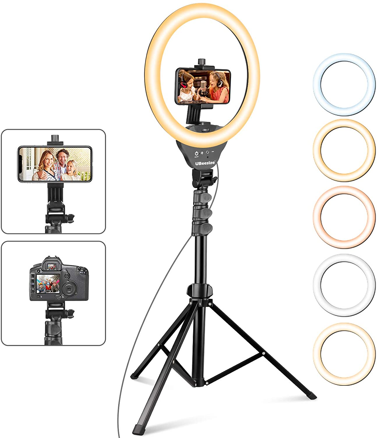 Selfie Ring Light with 67'' Tripod Stand