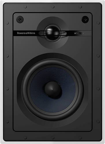 """Bowers & Wilkins - CI600 Series 5"""" In-Wall Speakers w/ Cast Basket, Aramid Fiber Midbass and Nautilus Tweeter- Paintable White (Pair) - White"""