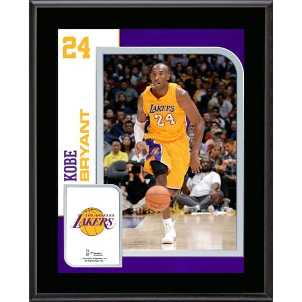 """Kobe Bryant Los Angeles Lakers 10.5"""" x 13"""" Sublimated Player Plaque"""