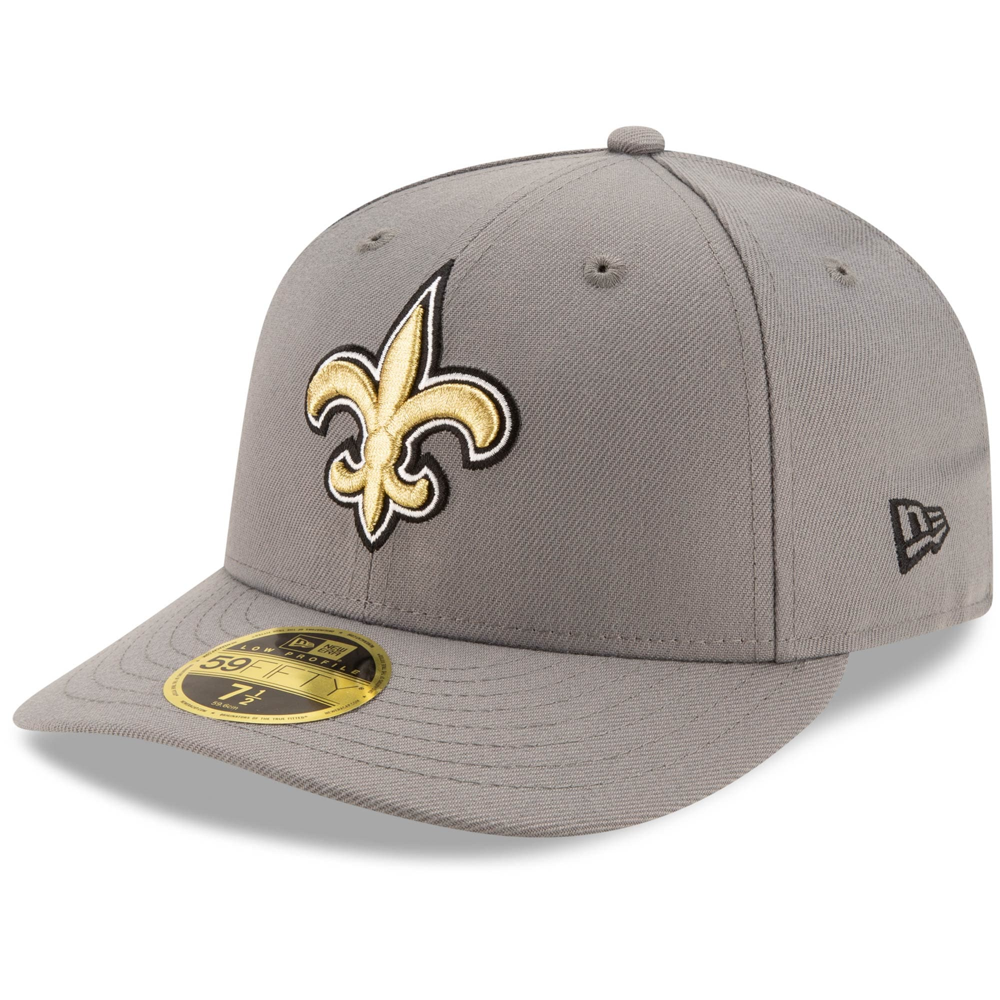 Men's New Orleans Saints New Era Graphite Storm Low Profile 59FIFTY Fitted Hat