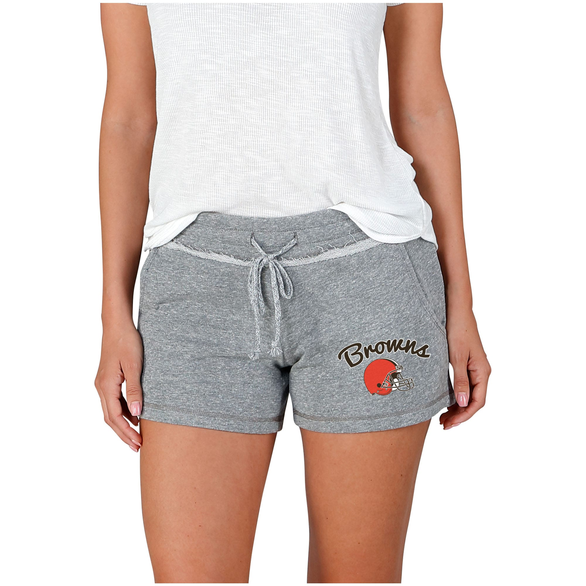 Women's Cleveland Browns Concepts Sport Gray Mainstream Terry Shorts