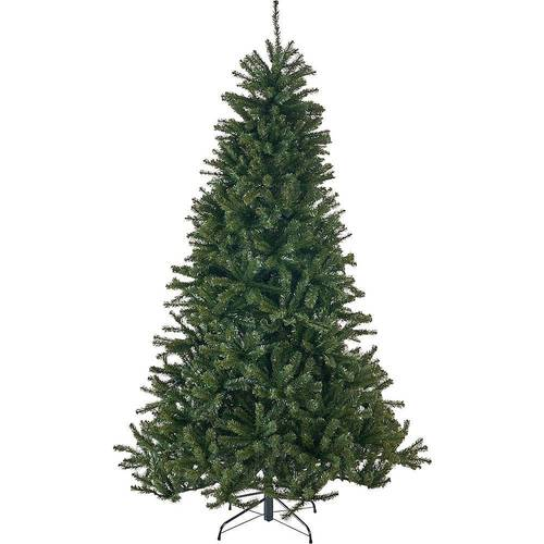 Noble House - 7.5' Noble Fir Unlit Hinged Artificial Christmas Tree - Green