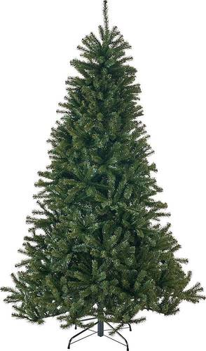 Noble House - 9' Noble Fir Unlit Hinged Artificial Christmas Tree - Green