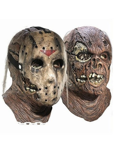 Rubie's - Adult Jason Overhead Latex Mask with Removable Hockey Mask Deluxe