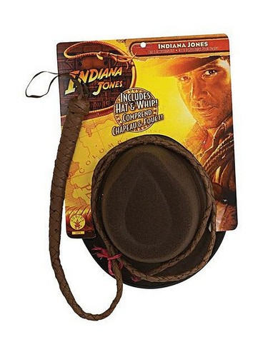 Rubie's - Indiana Jones Adult Hat and Whip - Multi