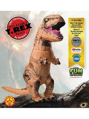 Rubie's - Inflatable Adult T-Rex Costume with Sound - Multi