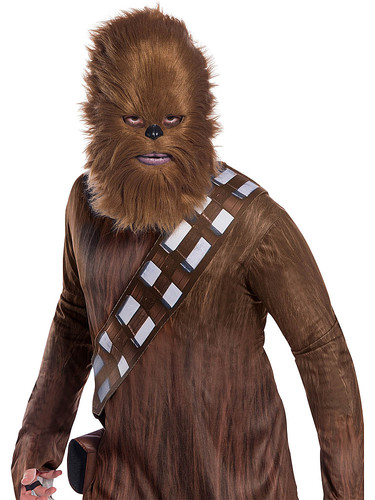 Rubie's - Rebel Collection: Star Wars Classic Adult Chewbacca 2018 Halloween Masks with Fur for Men