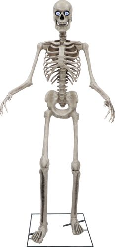 Seasonal Visions International - 8ft Towering Skeleton with posable arms moving jaw