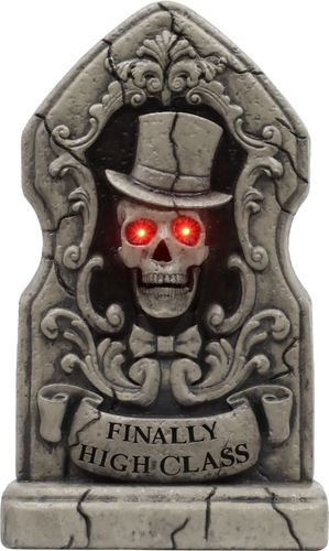 """Seasonal Visions International - Animated 24"""" light up tombstone with hinged jaw"""